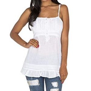 Standard & Practices White Camisole Tank Top Small